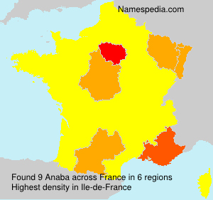 Surname Anaba in France