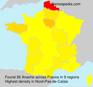 Surname Anache in France