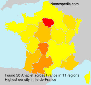 Surname Anaclet in France