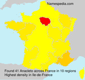 Surname Anacleto in France