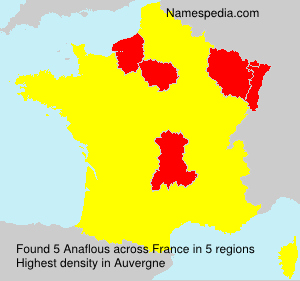 Surname Anaflous in France
