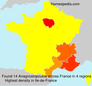 Surname Anagnostopoulos in France