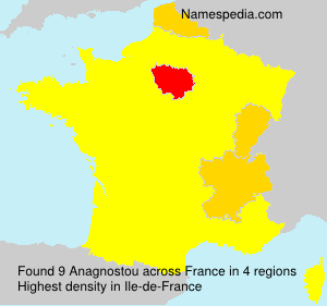 Surname Anagnostou in France