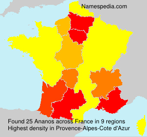 Surname Ananos in France