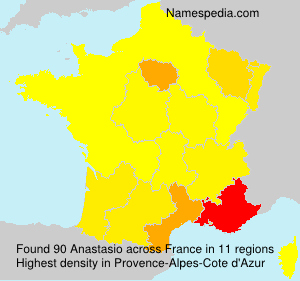 Surname Anastasio in France