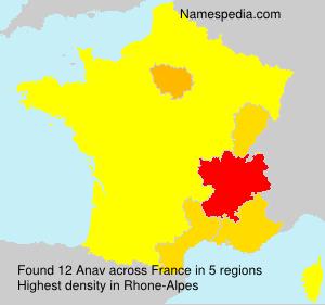 Familiennamen Anav - France