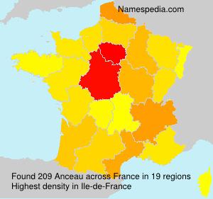 Familiennamen Anceau - France