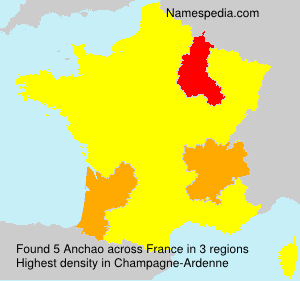 Surname Anchao in France