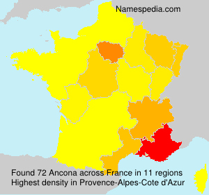Familiennamen Ancona - France