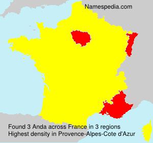 Surname Anda in France