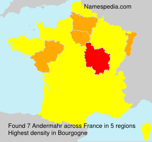Surname Andermahr in France