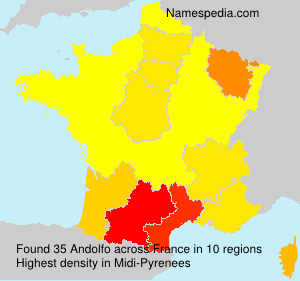 Surname Andolfo in France