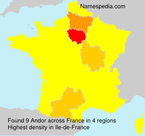 Surname Andor in France