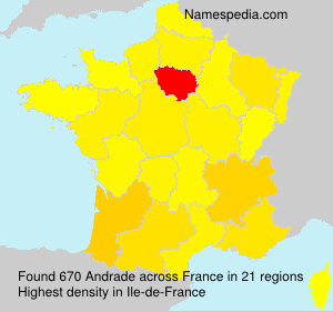Surname Andrade in France
