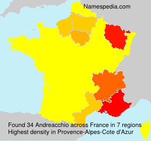 Surname Andreacchio in France