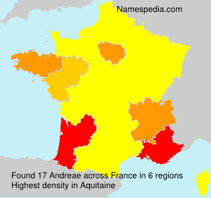 Surname Andreae in France