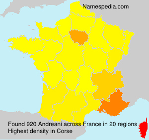 Surname Andreani in France