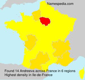 Surname Andreeva in France