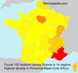 Surname Andreini in France