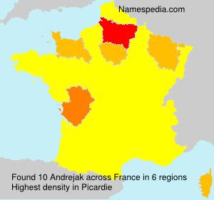 Surname Andrejak in France