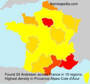 Familiennamen Andresen - France