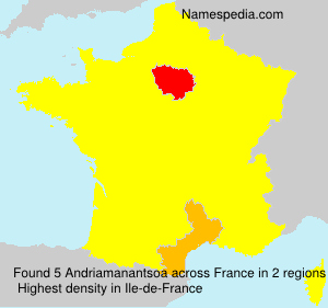 Surname Andriamanantsoa in France