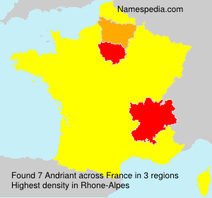 Surname Andriant in France