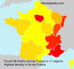 Surname Andric in France