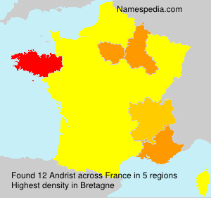 Surname Andrist in France