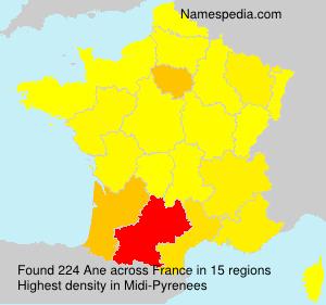 Familiennamen Ane - France