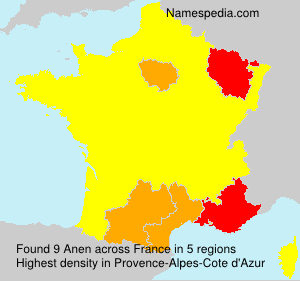 Surname Anen in France