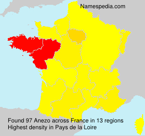 Surname Anezo in France