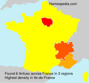 Surname Anfuso in France