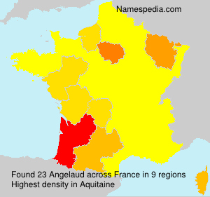 Surname Angelaud in France
