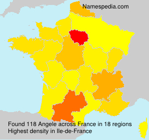 Surname Angele in France