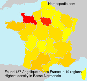 Surname Angelique in France