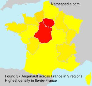 Surname Angenault in France