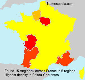 Surname Angibeau in France