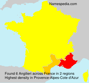 Surname Angilieri in France