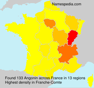 Surname Angonin in France