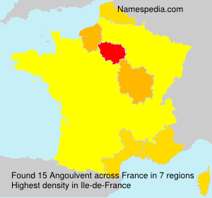 Surname Angoulvent in France