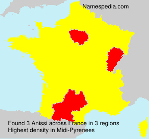 Surname Anissi in France