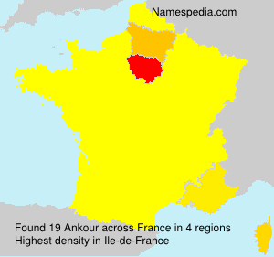 Surname Ankour in France