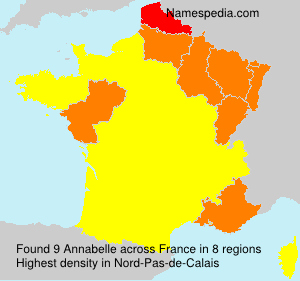 Surname Annabelle in France