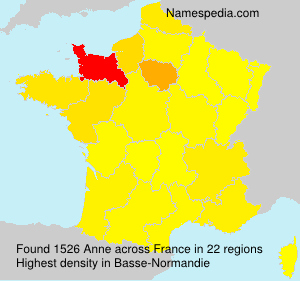 Surname Anne in France