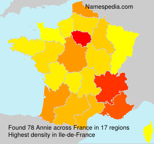 Surname Annie in France
