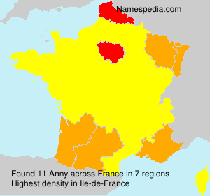 Surname Anny in France