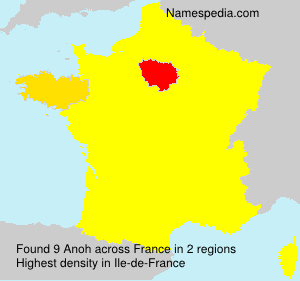 Surname Anoh in France