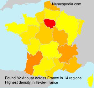 Familiennamen Anouar - France