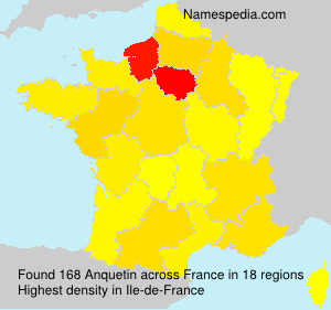 Surname Anquetin in France